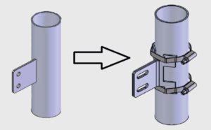 flexible fixation brackets